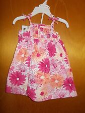 Jillian's Closet 100%Cotton Sleeveless Dress & Pants Set 6-9m 74cm Pink Mix BNWT