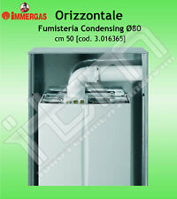 Kit Scarico Fumi Orizzontale IMMERGAS Ø80 cm 50 per Condensazione Condensing
