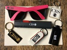 New Vintage 1990 Cbs Collectables Cbs Sun Glasses Cbs Key Chains Flashlight