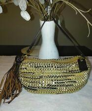 Diane Von Furstenberg Mini Stephanie Woven Leather Tassel Handbag