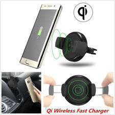 Qi Wireless Fast Charger Holder Air Vent Car Mount Dock For Samsung Galaxy Edge