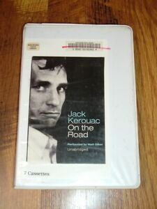 On the Road by Jack Kerouac (7 audiocassettes, Unabridged) read by Matt Dillon!