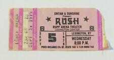 RUSH CONCERT TICKET STUB Lexington Kentucky 1979