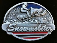 Snowmobile Snowmobiler Belt Buckle Extreme Winter Sport Skidoo Boucle Ceintures