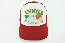 Venice Beach Old School Trucker Hat Snapback Red and White - AJM Brand -