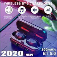 TWS Bluetooth 5.0 Earbuds Wireless Earphone HiFi Deep Bass In-Ear Headphone IPX7