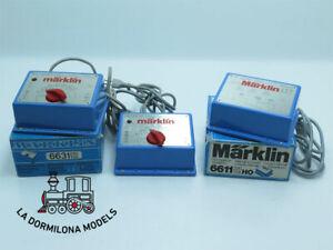 DV328 MÄRKLIN 6611 + 2x 6631 TRANSFORMADOR + REGULADORES ~AC 16V