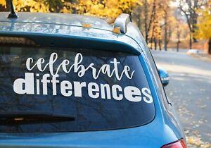 Celebrate Differences autism Sticker Car Window OZ 9 COLOR