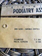 Edmund? Double Convex Lens 7.5 Diameter 18mm Focal Length Glass Laser