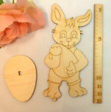 5 Hasenvater aus Holz 12 cm Ostern anmalen DIY Holzhasen Häschen Kinderbasteln