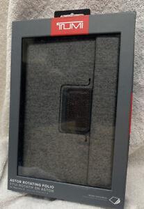 new Tumi Astor Rotating Folio Tablet Case for iPad Mini 4 Earl Grey 114215EG