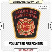 Volunteer Firefighter Patch FF FD VFF Fire Department Service Fireman Vol - F 94
