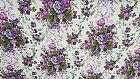 Tessuto x Tappezzeria Cotone Doppio BOUQUET Lilla Viola 2,80 x 2,80 mt