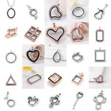 Living Memory Locket Glass Pendants Necklaces For Floating Charms Jewelry Gift