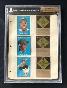 1961 *Topps Vault File Copy*  Baseball Binder Page- HANK AARON - 3 Players