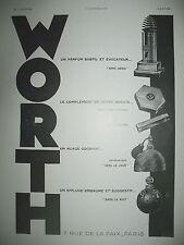 """PUBLICITE DE PRESSE WORTH PARFUM """"SANS ADIEU"""" PRODUITS DE BEAUTé FRENCH AD 1930"""