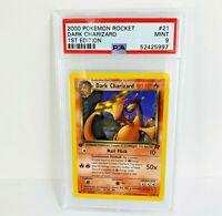 PSA 9 1st Edition Dark Charizard NON-Holo 21/82 Rare Team Rocket Pokemon Card
