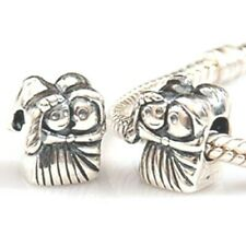 Bride & Groom Married Couple Charm Bead 925 Sterling Silver