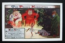 1910's Signed DEVIL Satan Postcard - PRUDE'S HEREAFTER - Risque, False Modesty