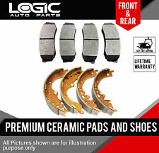 Ceramic Brake Pads + Shoes 2 Sets Fits Chevrolet Aveo, Aveo5, Spark [FRONT-REAR]
