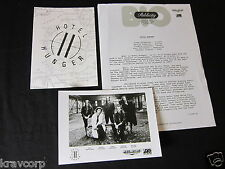 HOTEL HUNGER 'THIS IS WHERE THE FUN STARTS' 1989 PRESS KIT—PHOTO/POSTCARD