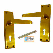HOPPE Dubayy PB Victorian Lever Lock Door Handle Brass
