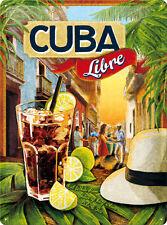 Cuba Libre Cocktail Blechschild 30x40 cm 23182 Cocktails Kuba