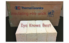 "K-20 Insulating Firebrick 9 x 4.5 x 1"" IFB Straight Fire Brick INDIVIDUAL BRICKS"