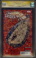 Amazing Spider man #700 CGC SS 9.8 Signed 2X by Stan Lee And John Romita