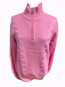 DAILY SPORTS 'CATTIE' LINED SWEATER  size MEDIUM colour  MELROSE (PINK)
