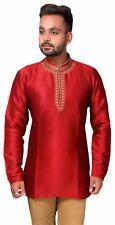 Mens Short Kurti Shirt Style Wedding Formal Wear Asian Kurta Tunic Costume 2011