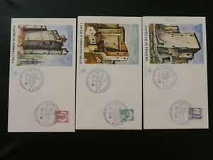 castles 1988 set of 5 FDC Italy 87480