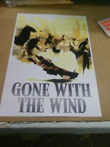 """GONE WITH THE WIND(1939)CLARK GABLE SET OF 2 DIFFERENT REPRO POSTERS 13""""BY19"""""""