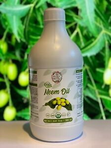 Organic 100% Pure Neem Seed Oil Cold Pressed- 200ml, 250ml or 1 Litre.