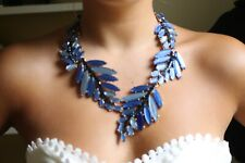 Authentic Oscar de la Renta Leaf Runway Necklace STUNNING