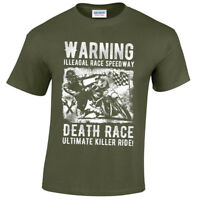 Illegal Race Speedway T-Shirt mens S-5XL Biker metal rock goth reaper motorcycle