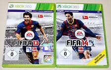 2 XBOX 360 SPIELE SET - FIFA 13 & FIFA 14 - FUSSBALL SOCCER FOOTBALL (15 16)