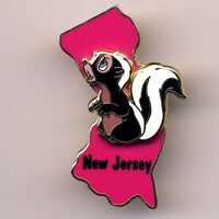 New Jersey Flower Bambi Skunk State Character 2002 WDW Disney World Pin #14949
