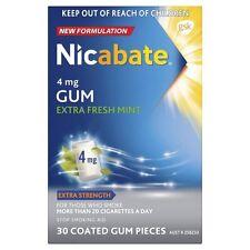 ツSPECIAL! NICABATE EXTRA STRENGTH 4MG EXTRA FRESH MINT SOFT GUM 30 PIECES NEW