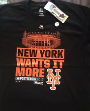 NEW W/TAGS - 2015 N.Y Mets Postseason Majestic Authentic Collection~Size-XL~