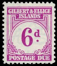 "GILBERT & ELLICE J6 (SG D6) - Numeral of Value ""Postage Due"" (pf31947)"