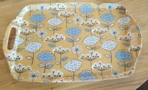 Cooksmart Retro Meadow Collection Large Tray Ochre / yellow floral design
