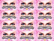 Augenbrauen Schablonen; STANDARD oder SCHMALE GESICHT, selbstklebend, 3 Stk.