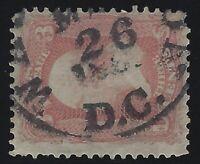 US Stamps - Scott # 65 - Bold Washington D.C. Cancel                     (A-350)