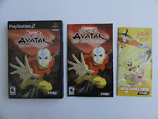 NO GAME- PS2 AVATAR THE LAST AIRBENDER  - CASE & MANUAL ONLY - NO GAME