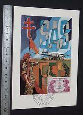 CPA 1er JOUR PHILATELIE 1973 KIEFFER BOURGOIN COMMANDOS PARAS BERETS VERTS SAS