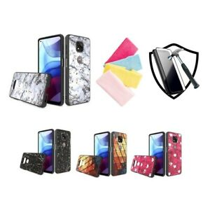 For Motorola Moto G Power 2021, Special Designs Shockproof Phone Case+1 Cloth+TG