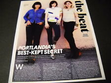 PORTLANDIA Sleater-Kinney Band 2015 music biz PROMO DISPLAY PAGE mint condition