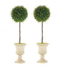 """2 lot Topiary ball urn planter 29"""" tall floral outdoor wedding table centerpiece"""