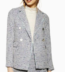 topshop tweed Blazer Uk 14 Rrp £65